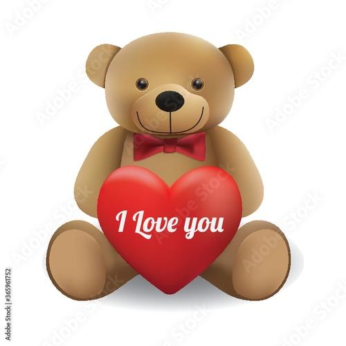 teddy bear with heart #365961752
