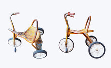 Rusty Kids Tricycle Isolated O...