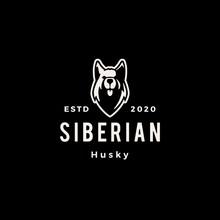 Siberian Husky Dog Hipster Vin...