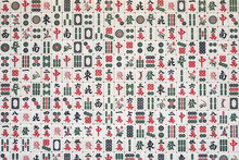 Stacked Mahjong Tiles Background