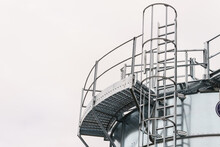 Industrial Metal Ladder With R...