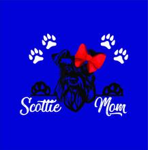 Scottish Terrier Scottie Mom Funny Dog Lover Gift Design Vector New