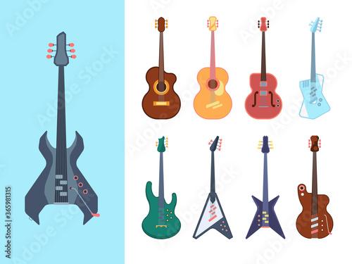 Guitars stylish set Wallpaper Mural