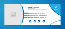 Modern Email Signature Template With An Author Photo Place Minimalist Layout