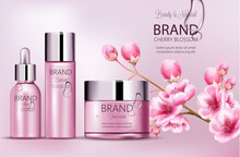 Cherry Pink Cosmetics Brand. S...