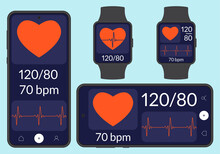 Heartbeat Or Pulse Tracker, Bl...
