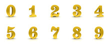 Numbers Golden Signs Numerals ...