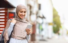 Beautiful Girl In Hijab Using ...