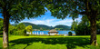 Leinwanddruck Bild - bavarian lake tegernsee - bad wiessee