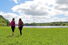Mother And Daughter, At Fewston Reservoir, Washburn, North Yorkshire, England.