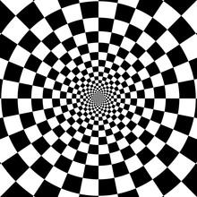 Abstract Circle Checkered Back...