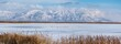 canvas print picture - Panoramic shot of Great Salt lake in Utah