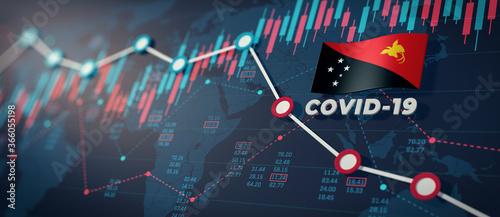 Fototapeta COVID-19 Coronavirus Papua New Guinea Economic Impact Concept Image. obraz