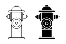 Fire Hydrant Icon Set Of Silho...