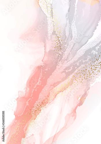 Obraz na płótnie Watercolor Soft texture digital paper pink gradient liguid flow, alcohol ink background, abstract modern resin art, ink pastel marble fine art