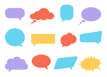 Colorful Speech Bubbles. Diffe...