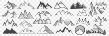 Hand Drawn Mountain Peaks Dood...