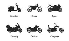 Motorcycle Icon Vector Logo Te...