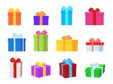 Gift Box. Colorful Present Box...