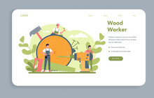 Woodworker Or Carpenter Concep...