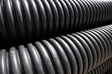 Black Corrugated Drainage Pipe...