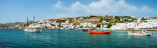 Panorama Of Greek Fishing Boat...