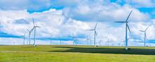 Wind Farm On Huitengxile Grassland In Inner Mongolia, China