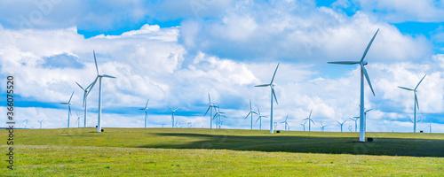 Obraz Wind farm on Huitengxile grassland in Inner Mongolia, China - fototapety do salonu