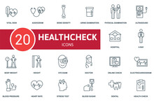 Health Check Icon Set. Collect...
