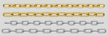 Metal Chain Of Silver, Chrome,...