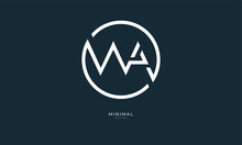Alphabet Letter Icon Logo WA