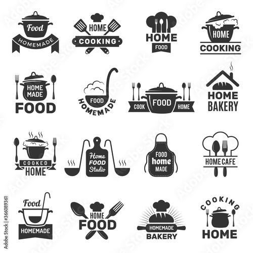 Homemade food badges Tapéta, Fotótapéta