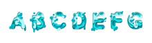 Paper Cut Letter A, B, C, D, E, F, G. Design 3d Sign Isolated On White Background. Alphabet Font Of Melting Liquid. Vector Illustration