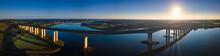 Aerial Panorama Of Orwell Brid...