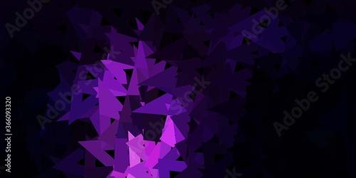 Dark purple vector abstract triangle backdrop.
