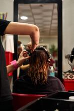 Close Up Shot Of A Hairdresser...