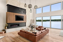 Beautiful Living Room In New M...