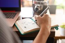 Travel Planning In Agenda, Travel Blogger Concept