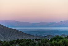 La Luz, New Mexico Town View O...