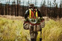 Forest Ranger With Bag Full Of...