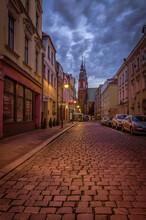 Stare Miasto W Opolu W Nocy Pr...