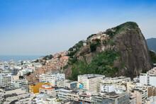 Copacabana Neighbourhood And The Pavao Pavaozinho Favela Slum, Copacabana, Rio De Janeiro, Brazil