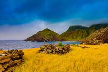 Beautiful View On Saba Island,...