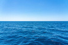 Minimal View Of Blue Sea And S...