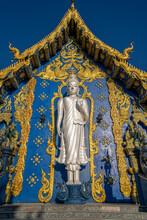 Wat Rong Suea Ten (Blue Temple) In Chiang Rai