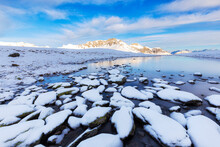 Winter Scenery With Frozen Alp...
