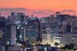 Seoul cityscape at sunset, Seoul