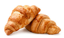 Fresh Croissant On A White Background. Isolated