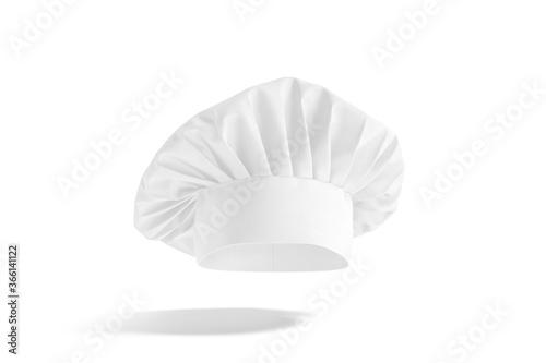 Photo Blank white toque chef hat mockup, no gravity