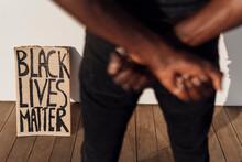 Black Lives Matter Sign Leanin...